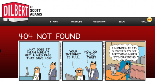 Error 404 page from Dilbert