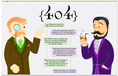 Error 404 page from Distilled