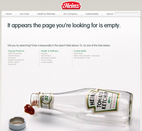 Error 404 page for Heinz