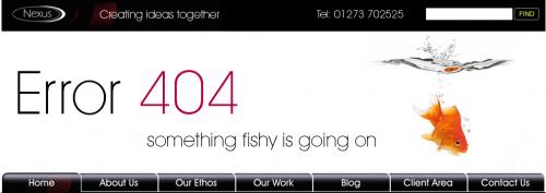 Error 404 page from Nexus