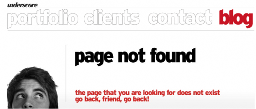 Error 404 page from Underscore