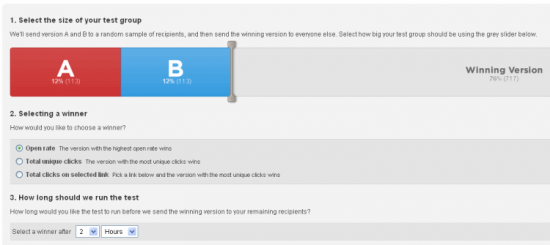 Email A/B testing with Campaign Monitor