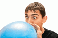 balloon blowup