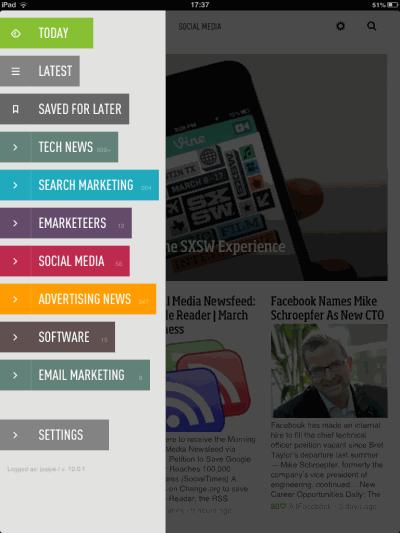 Feedly iPad app