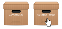 Advertising vs content
