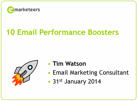 Email performance boosters (webinar)