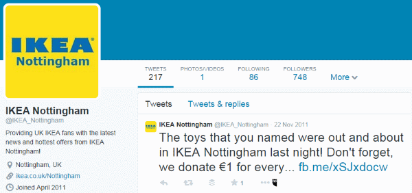 IKEA Nottingham Twitter