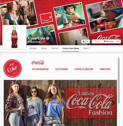CocaCola Facebook Tab page