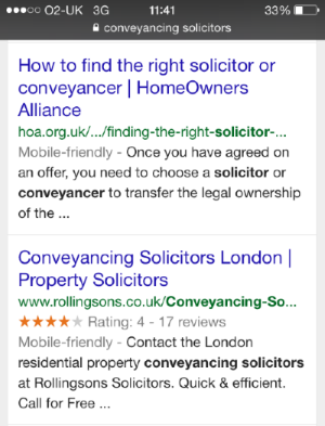 Mobile friendly labels in SERPs