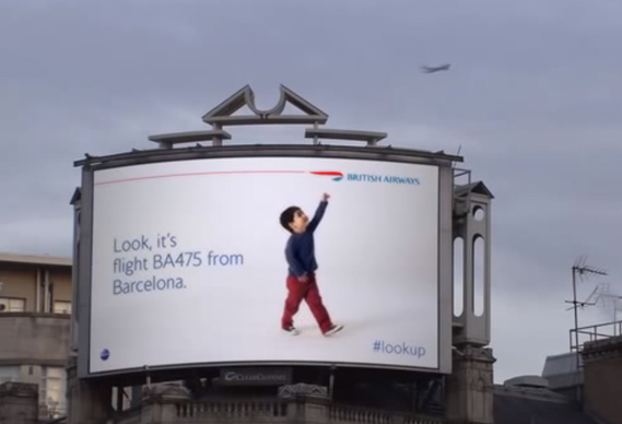 BA outdoor digital ad