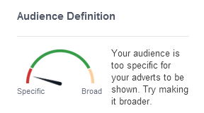 Facebook ads - estimated audience