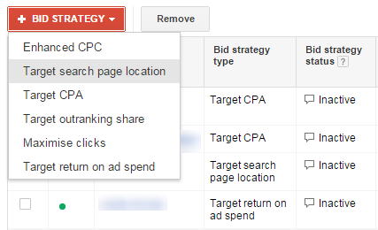 AdWords bid strategies