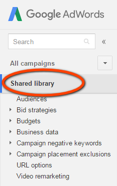 AdWords shared library