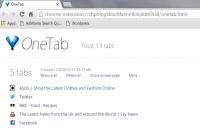 OneTab Chrome Extension