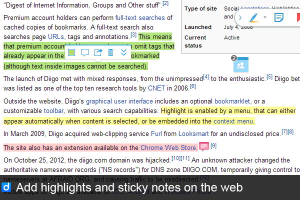 Diigo Chrome Extension