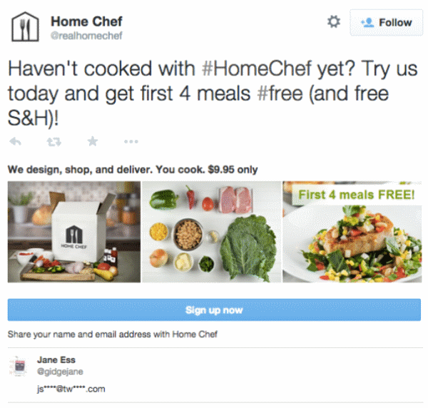 Home Chef Twitter campaign
