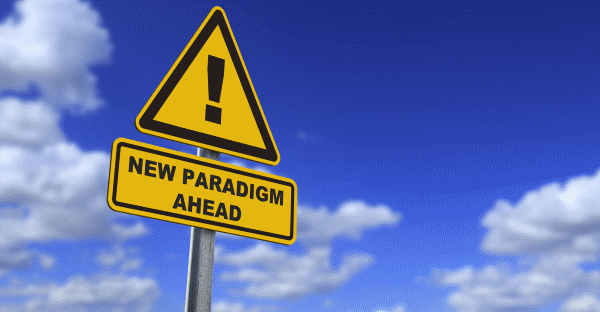 New paradigm ahead sign
