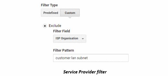 Service Provider filter