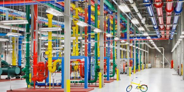 Google's server room
