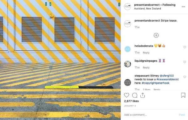 Using geometry on Instagram